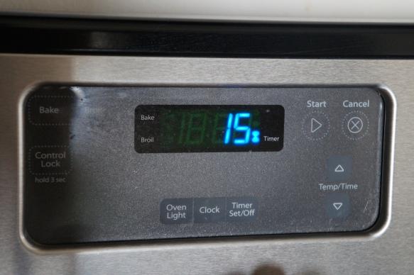 Cocinar por 15 min